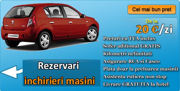 Rezerva acum o masina in Arad